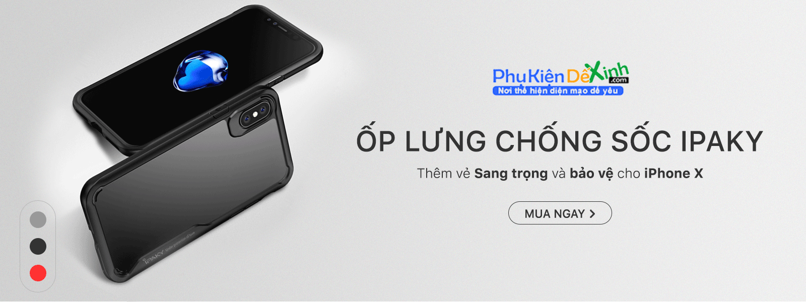 Ốp lưng chống sốc ipaky iphone x